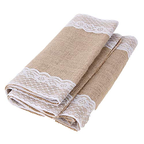 Runner Bag - 1 Roll Table Runners Sack Bags Jute Lace Wedding Christmas Decoration Luxury Burlap Linen Runner 295 - Belt Men Phone Ina For Pack by Unknown (Image #4)