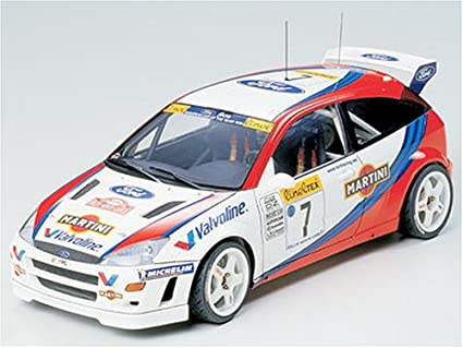 Amazon.com: Tamiya 24217-1800 Ford Focus WRC: Toys & Games