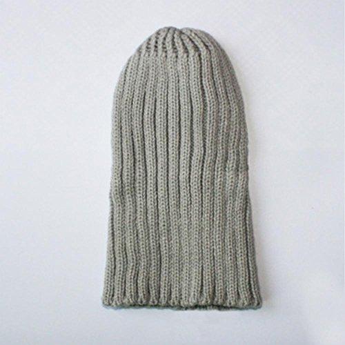 sombreros aire gray caliente al Baggy Light Slouchy Mens forrado grueso libre diaria moda de invierno suave esquí Gorro punto sombrero xPHw6fgq