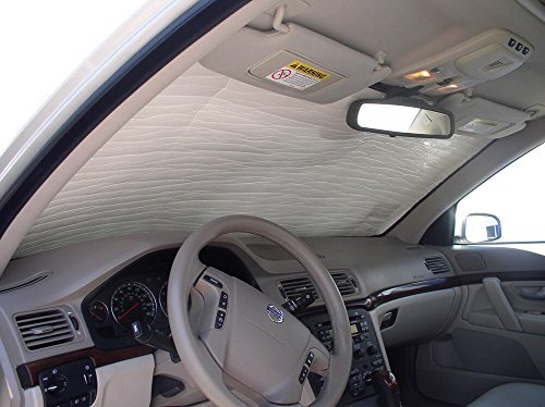 (The Original Windshield Sun Shade, Custom-Fit for Volvo S60 Sedan 2001-2009, Silver Series)
