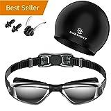 Swimmaxt Swimming Goggles + Swim Cap + Nose Clip + Ear Plugs