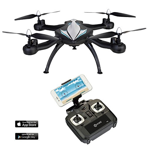 Fathers-Day-F4-WiFi-FPV-Quadcopter-Drone-w-HD-CameraLive-Video-For-Aerial-PhotographyAltitude-HoldHeadless-ModeEasy-to-Fly-for-Expert-Pilots-Beginners-Great-Gift-Idea-by-Contixo