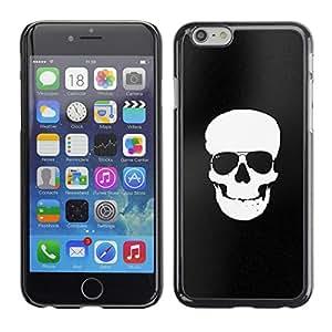 iBinBang / Funda Carcasa Cover Skin Case - Black White Skull Minimalist Shades - Apple iPhone 6