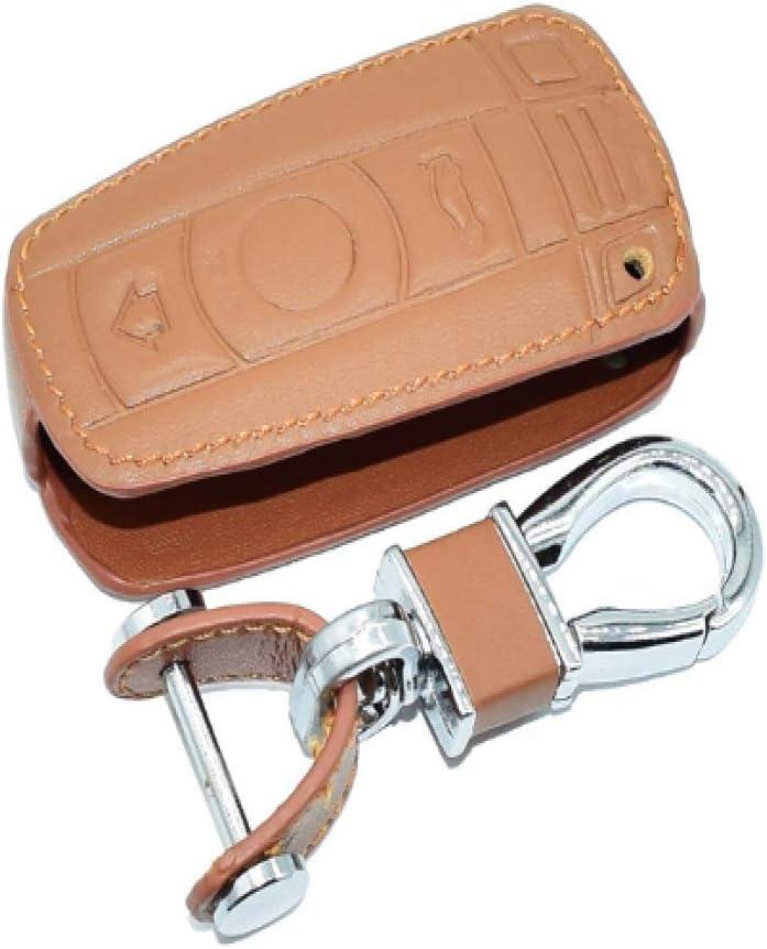 QDN /Étui De Cl/é De Voiture en Cuir pour BMW E90 E60 E70 E87 1 3 5 6 S/érie M3 M5 X1 X5 X6 Z4 Porte-Porte Protecteur Couverture Sac Accessoire Auto