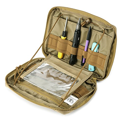 MOLLE Pouch, Multi-Purpose Tool Holder Modular Pouch Tan ()