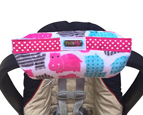 l Car Seat Handle Cushion/Pad/Pillow Newborn 0-12 months (Girl Hippo) ()