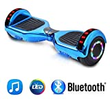 NHT 6.5' inch Aurora Hoverboard Self Balancing Scooter with Colorful LED Wheels and Lights - UL2272 Certified Carbon Fiber/Spider/Built-in Bluetooth Speaker Available