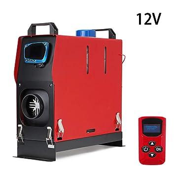 Lavadora de automóviles de 5000W Calentador de aire diesel 5KW 12 / 24V Un camión Bus Motor - Barco doméstico + Interruptor de llave LCD + Silenciador: ...