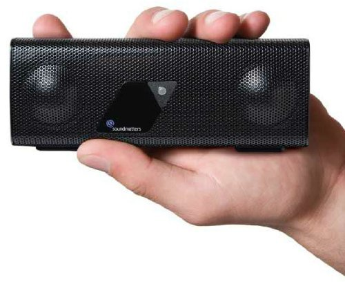Soundmatters foxLv2 Purist Pocket-sized Portable Audiophile Speaker System, Black, Non-Bluetooth by SoundMatters