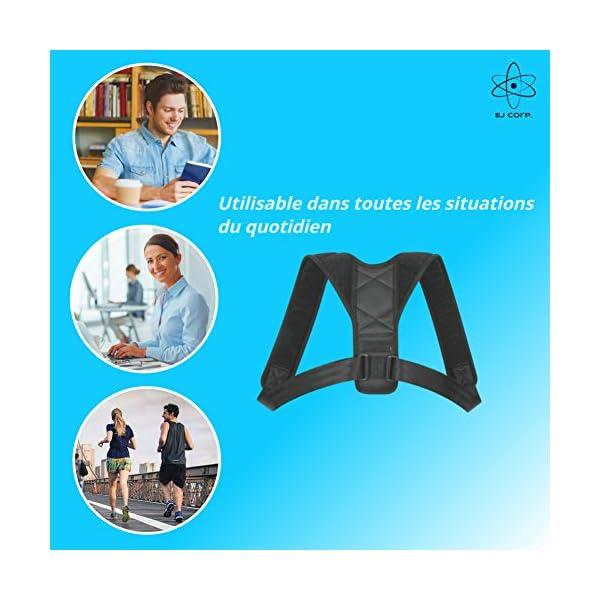 Correcteur de Posture Dos – COUSSINETS CONFORT offerts – Pour Hommes & Femmes – Maintien pour Épaules Avachies – Permet…