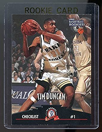 1997 Score Board Rookies 61 Tim Duncan Cl Rookie Card Mint Condition Ships In A Brand New Holder