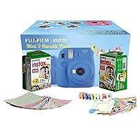 FujiFilm Instax Mini 9 Bundle Pack Combo Offer - ( Cobalt Blue Camera + 2 Twin Pack Films + Accessories)