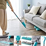 Vivo Technologies Flex Extendable Spray Mop with Double Sided Microfibre Pads for Hardwood, Laminate, Wood, Wet and Dry Vinyl & Tiles Floor Cleaning | Safer Than steam