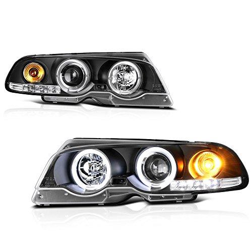 VIPMOTOZ For 2000-2003 BMW E46 Coupe 323ci 325ci 328ci 330ci M3 LED Halo Headlights Headlamps, Driver and Passenger Side