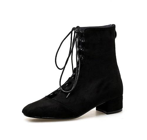 Zapatos de Mujer Primavera y Otoño Nuevos Botines Cross Straps Boots Moda al Aire Libre Verano Martin Boots: Amazon.es: Zapatos y complementos