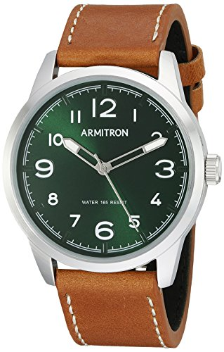 Green Dial Tan Leather Strap - 4