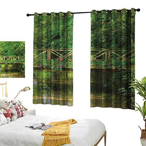 Landscape Decor Curtains Bridge Gentle Flowers Home Garden Bedroom Outdoor Indoor Wall Decorations 55