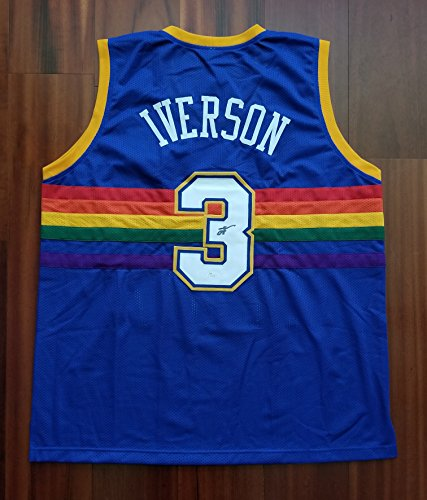 Nuggets Jersey Rainbow: Denver Nuggets Autographed Jersey, Nuggets Signed Jersey