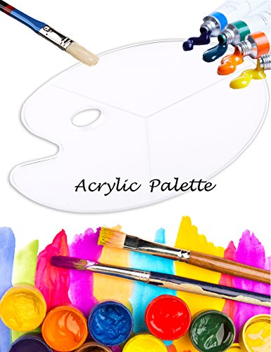 What's Fun Non-stick Crystal Clear Acrylic Paint Watercolor Palette 18×12 (Crystal Palette)