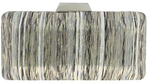 sondra-roberts-ladies-metallic-stripe-clutch-grey-one-size