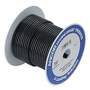 Ancor Marine Grade Primary Wire and Battery Cable (Black, 100 Feet, 14 AWG)