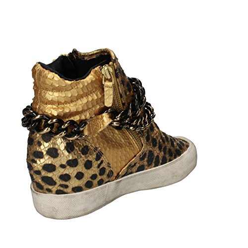 D Leather T A Python Gold 7 Fashion EU Woman Sneakers 37 US E rqr1wx7