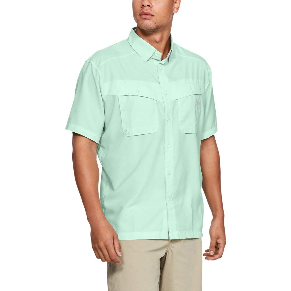 Under Armour Men's Tide Chaser Short Sleeve Shirt, Aqua Foam//Elemental, Medium, Aqua Foam (335)/Elemental, Medium