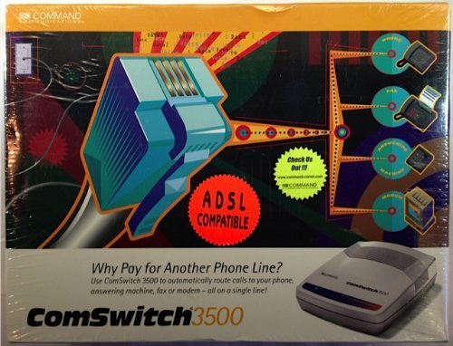 Device Stick Sharing The Line (Command Communications 3-Port Phone/Fax Modem Line Sharing Device 3500 Comswitch)