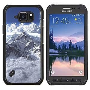 EJOOY---Cubierta de la caja de protección para la piel dura ** Samsung Galaxy S6Active Active G890A ** --Mont Blanc