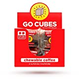 GO CUBES Chewable Coffee, Assorted Flavors, 4 count chews (20 Pack)