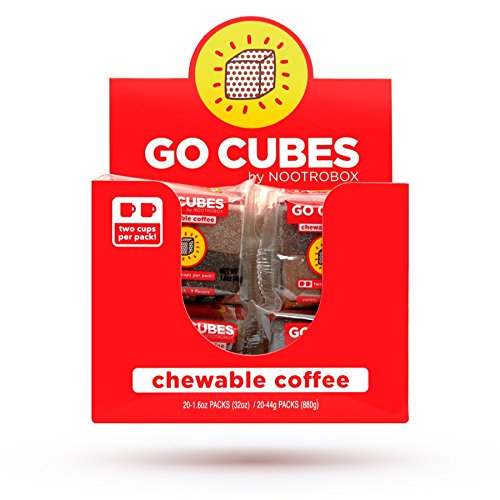 GO CUBES Energy Chews, Assorted Coffee Flavors, 4 count chews (20 Pack)