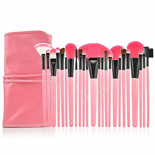 AwesomeMall-Professional-24pcs-Makeup-Brushes-Eyeshadow-Powder-Brush-Set-Kit-with-Pink-Case