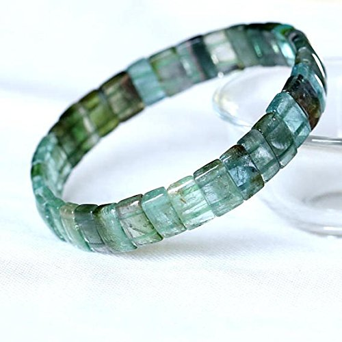 JP_Beads 1 Strands Natural Green Blue Watermelon Tourmaline Stretch Bracelet Flat Rectangle Beads Size: 3x5x9mm (Rectangle Carnelian Bead Jewelry)