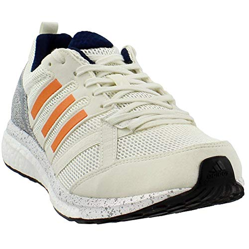 adidas Performance Men's Adizero Tempo 9 m, Legacy/Hi-Res Orange/Collegiate Navy, 9 M US
