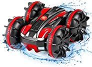 Remote Control Car Boat Truck - Amphibious All Terrain 4WD 2.4Ghz Stunt Car RC Off Road Monster Vehicle Pool T