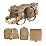 german shepherd service dog vest - Graycell Tactical Dog Molle Vest with Pouches Military Harness for Service K9 Dogs (COB, XL)