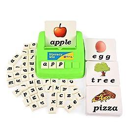 BOHS Literacy Wiz Fun Game -Lower Case Sight Words – 60 Flash Cards – Preschool Language Learning Educational Toys