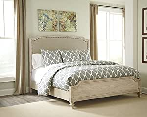 Amazon Com Ashley B693 Demarlos 4 Pc King Bedroom Set