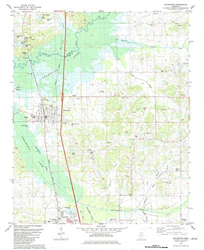 YellowMaps Coldwater MS topo map, 1:24000 Scale, 7.5 X 7.5 Minute, Historical, 1982, Updated 1982, 27 x 22 in - Tyvek