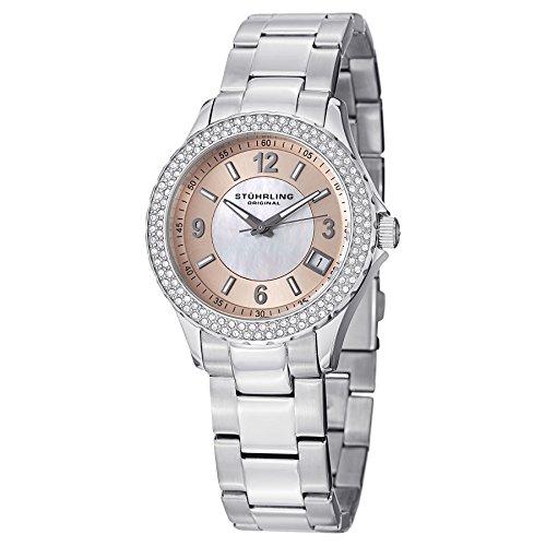 Stuhrling Original Women's 887.03 Vogue Iris Analog Display Swiss Quartz Silver Watch