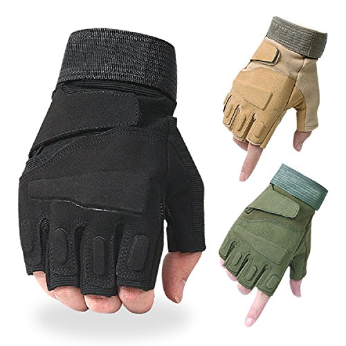 Blackhawk Army Glove (BLACKHAWK Military Army Hand Gloves Half Finger (1 Pair) Outdoor Sport Tactical Airsoft Hunting Riding Cycling Gloves)