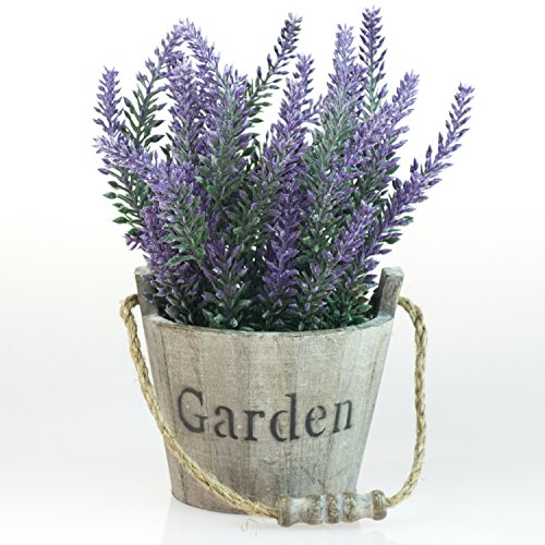 MyGift Artificial Lavender Flower Planter