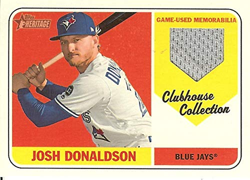 2018 Heritage High Number Clubhouse Collection Relics #CCR-JDO Josh Donaldson MEM Blue Jays from Heritage High Number