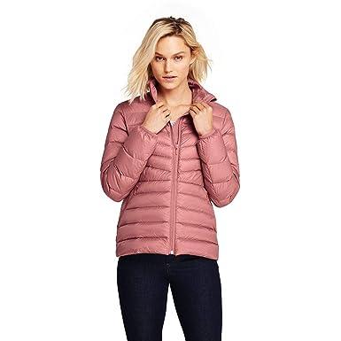 d1065daebaf Lands' End Women's Ultralight Packable Down Jacket, XS, Dark Rose Clay