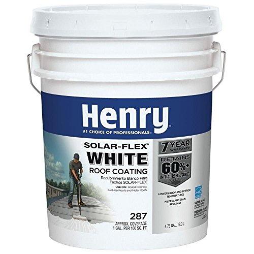 Henry HE287SF871 4.75 Gallon White ELSTMR Solar-Flex Roof Coating by Henry
