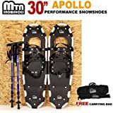 """New MTN 30"""" OP All Terrian Snowshoes + Nordic Pole + Free Carrying Bag"""