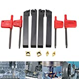 Hitommy 4pcs 12x100mm Lathe Turning Tool Holder Boring Bar For CCMT09T3 And DCMT0702 Inserts
