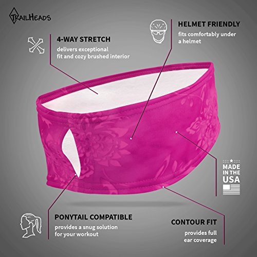 TrailHeads Women's Print Ponytail Headband – 12 prints - Made in USA - pink splash by TrailHeads (Image #2)