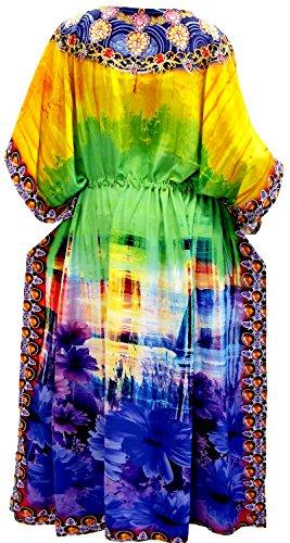 La Leela Frauen verschleiern langen Kaftan Kleid Strand tragen Kimono Badeanzug Nacht tragen Mehr