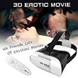 JMS Sex Toys Cardboard VR Box Pro Version VR Virtual Reality 3D Glasses +Smart Bluetooth Wireless Mouse (Color: Ivory)